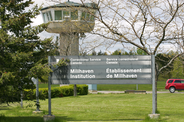 "An armed guard tower is situated by the main entrance to Millhaven. The entrance is used for visitors and staff alike and features airport type xray machines and metal detectors. Visitors are asked to leave all personal belongings in a locker before entering the grounds. Millhaven Institution is a federal maximum security facility that opened in 1971 and it was originally intended to replace Kingston Penitentiary. In 1990, it was assigned a secondary role as a reception center for all maximum security prisoners sentenced to two years or more in the Ontario region. All new inmates will go through Millhaven to be assessed for a period of 6-7 months before being transferred to other facilities. There are 130-150 inmates that are permanently housed there and about 330 ""temporary"" inmates. CHRIS SO / THE TORONTO STAR"